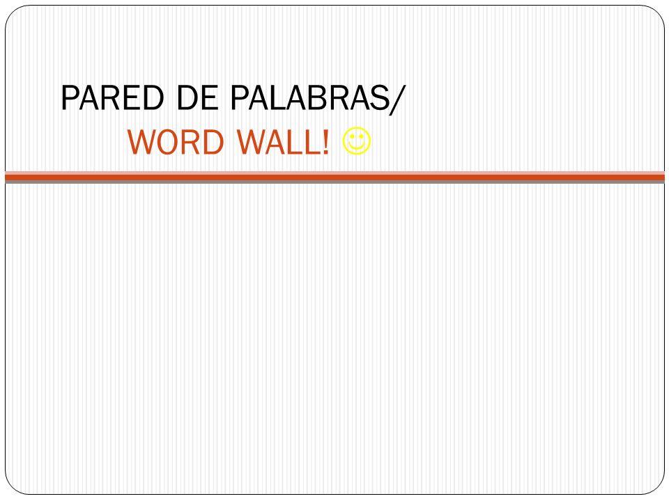 TAREA DE CASA (Home learning) Make notecards of Vocabulario #1, read about TPR