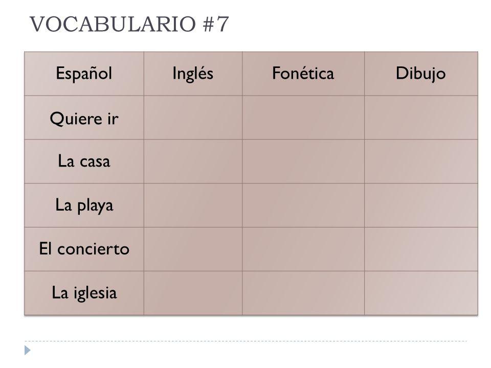 VOCABULARIO #7