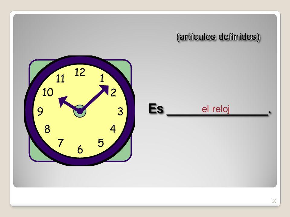 25 (artículos definidos) la regla Es ______________.