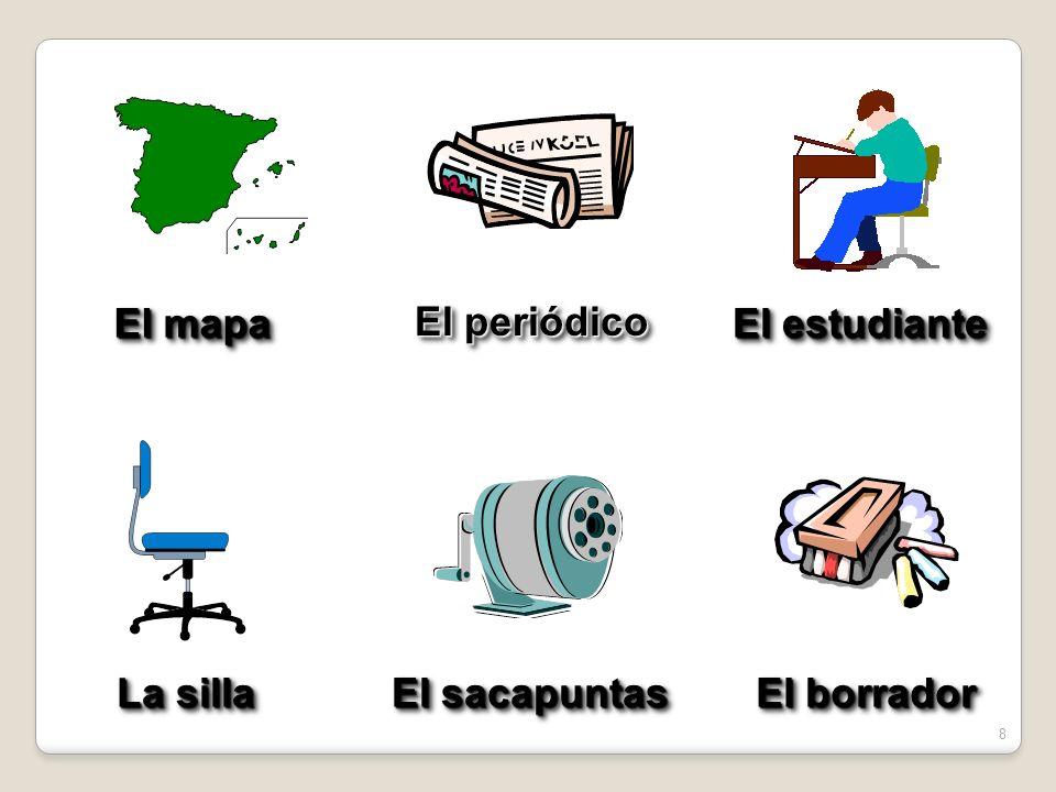 7 El papel El lápiz La basura La ventana La regla El reloj