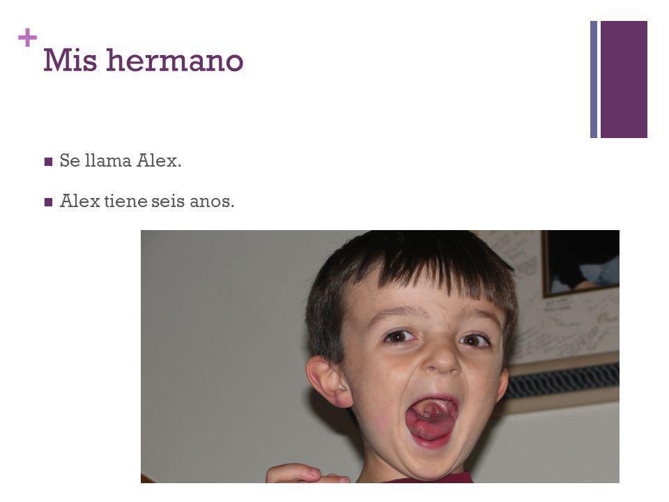 + Mis hermano Se llama Alex. Alex tiene seis anos.