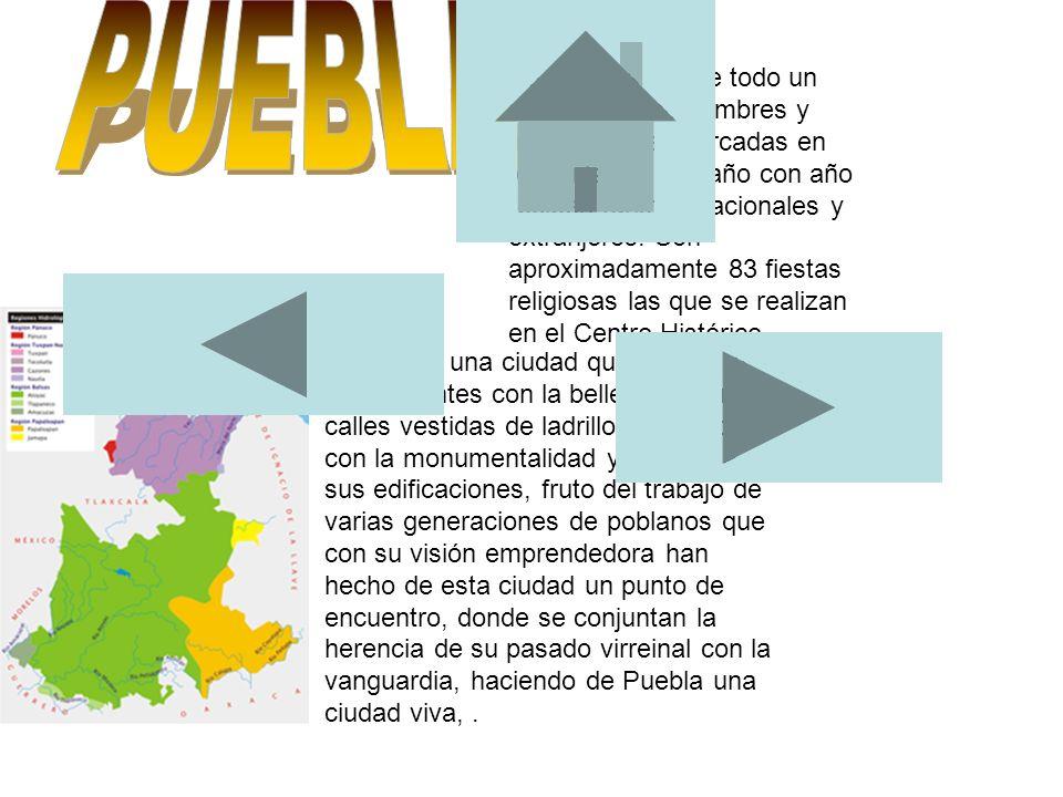Puebla nos ofrece todo un mosaico de costumbres y tradiciones enmarcadas en festividades que año con año reciben turistas nacionales y extranjeros. So
