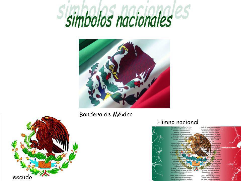 Bandera de México Himno nacional escudo
