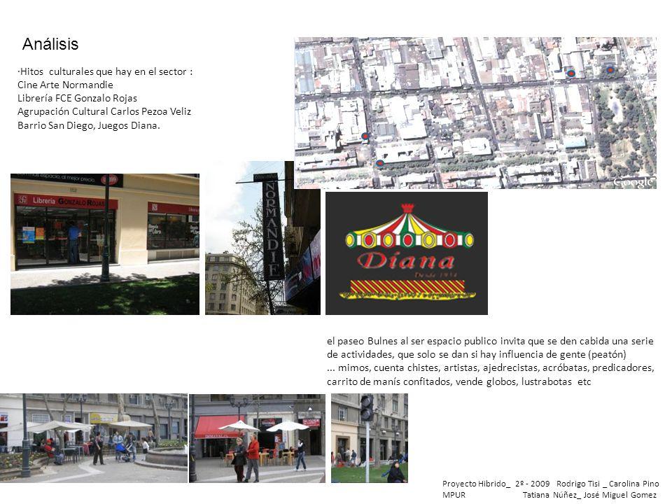 Proyecto Hibrido_ 2º - 2009 Rodrigo Tisi _ Carolina Pino MPUR Tatiana Núñez_ José Miguel Gomez Análisis ·Hitos culturales que hay en el sector : Cine