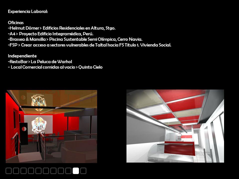 Experiencia Laboral: Oficinas -Helmut Dörner > Edificios Residenciales en Altura, Stgo.