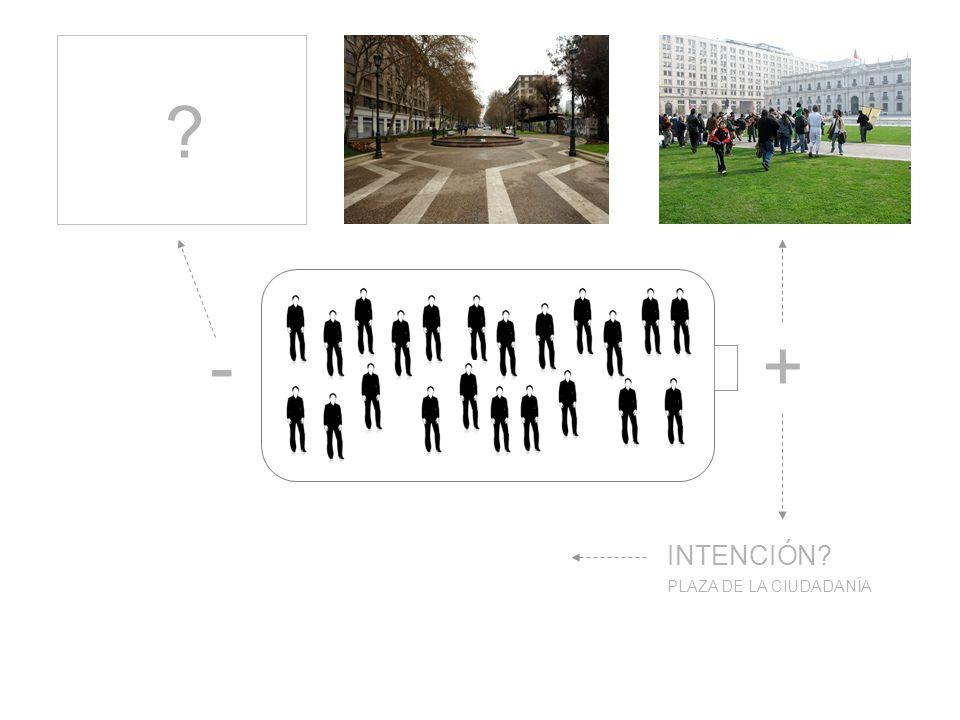 +- PLAZA DE LA CIUDADANÍA INTENCIÓN