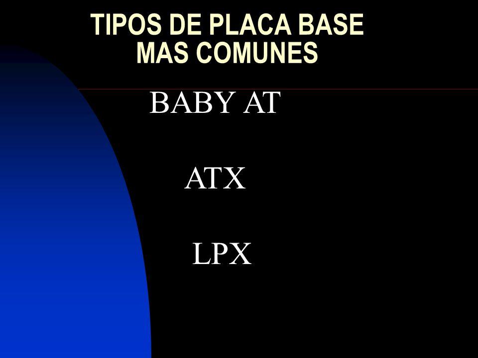 TIPOS DE SOCKETS MAS COMUNES PGA (SE UTILIZA CON LOS 386 Y 486) ZIF (PGA PERO MEJORADO CON SUS VERSIONES 3, 5 Y 7) 370 O PGA 370 (SIMILAR AL ANTERIOR PERO INCOMPATIBLE CON EL) FC-PGA (PARA CELERON Y PENTIUM III) SOCKET A (PARA LOS AMD K7 ATHLON Y AMD DURON.