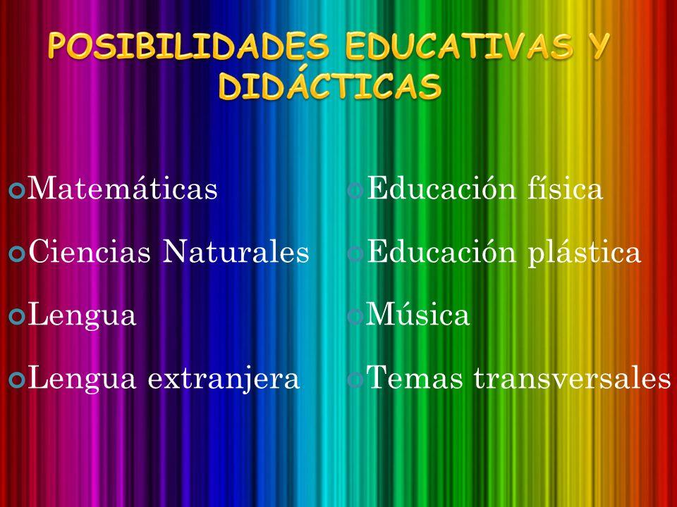Matemáticas Ciencias Naturales Lengua Lengua extranjera Educación física Educación plástica Música Temas transversales