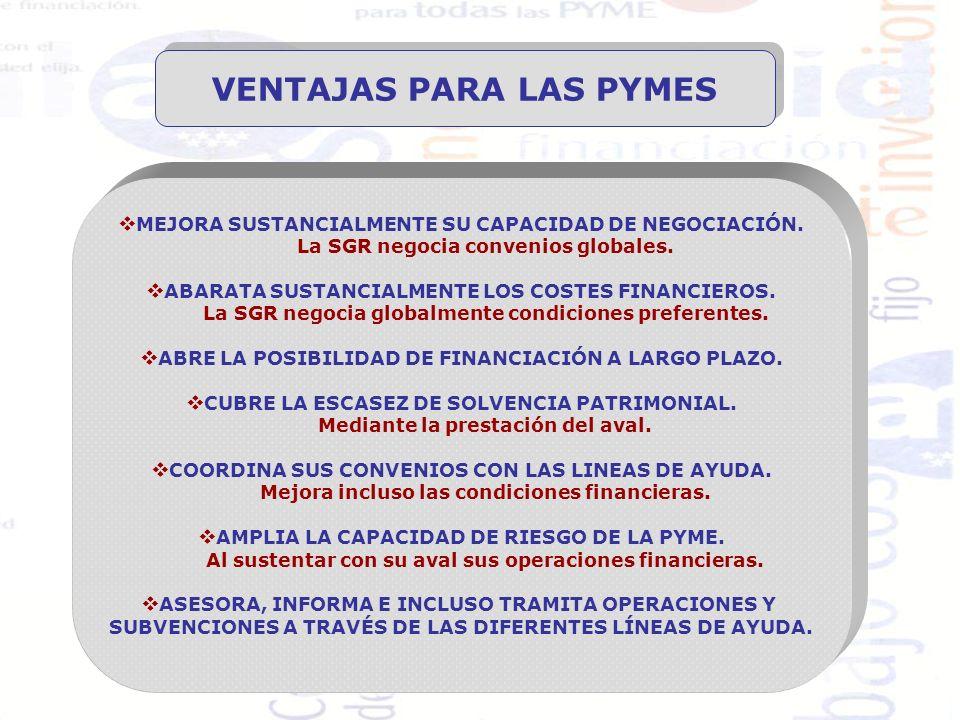 VENTAJAS PARA ENTIDADES FINANCIERAS COMERCIALES TÉCNICAS