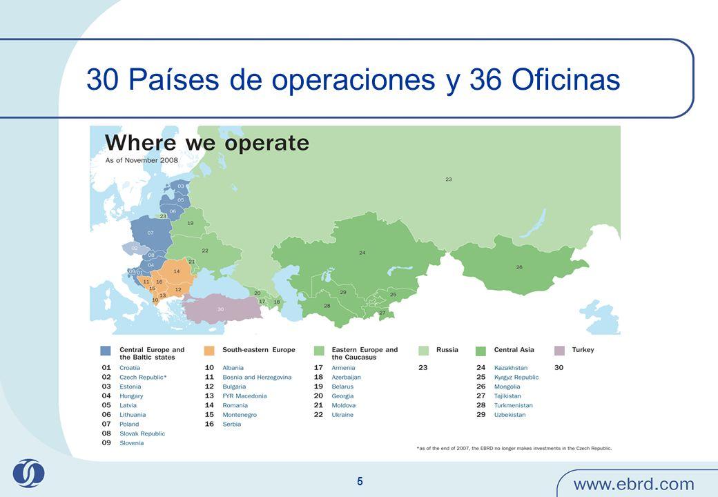 5 30 Países de operaciones y 36 Oficinas