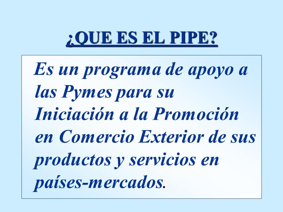 P lan I niciación PIPE P romoción E xterior P lan I niciación PIPE P romoción E xterior