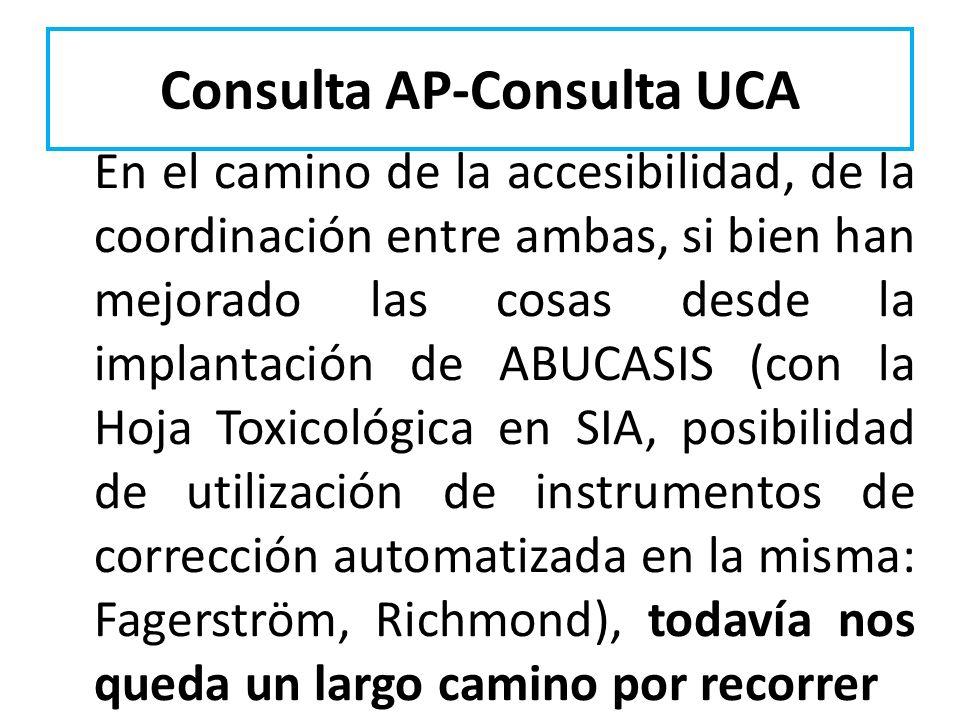 Consulta AP-Consulta UCA En el camino de la accesibilidad, de la coordinación entre ambas, si bien han mejorado las cosas desde la implantación de ABU