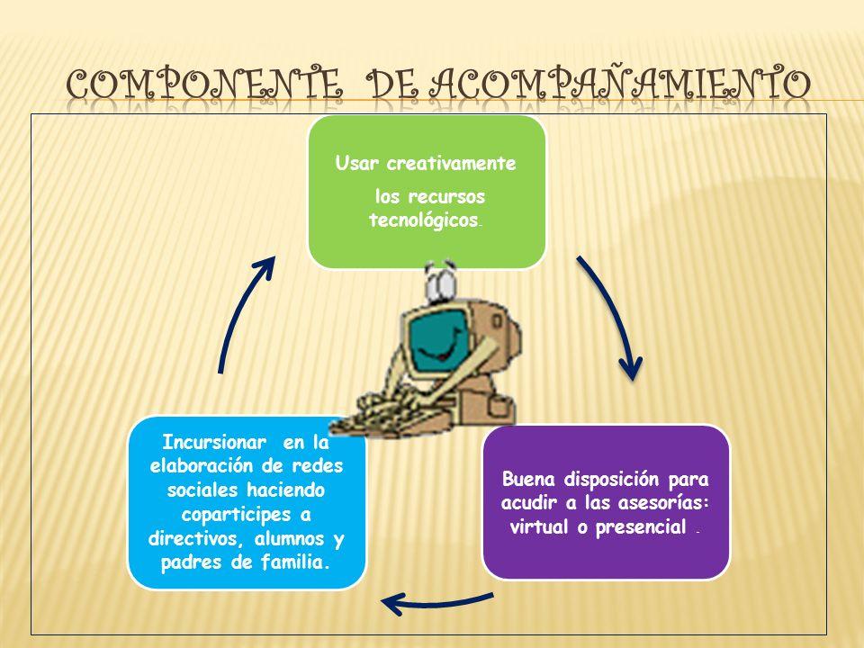 Usar creativamente los recursos tecnológicos. Buena disposición para acudir a las asesorías: virtual o presencial. Incursionar en la elaboración de re