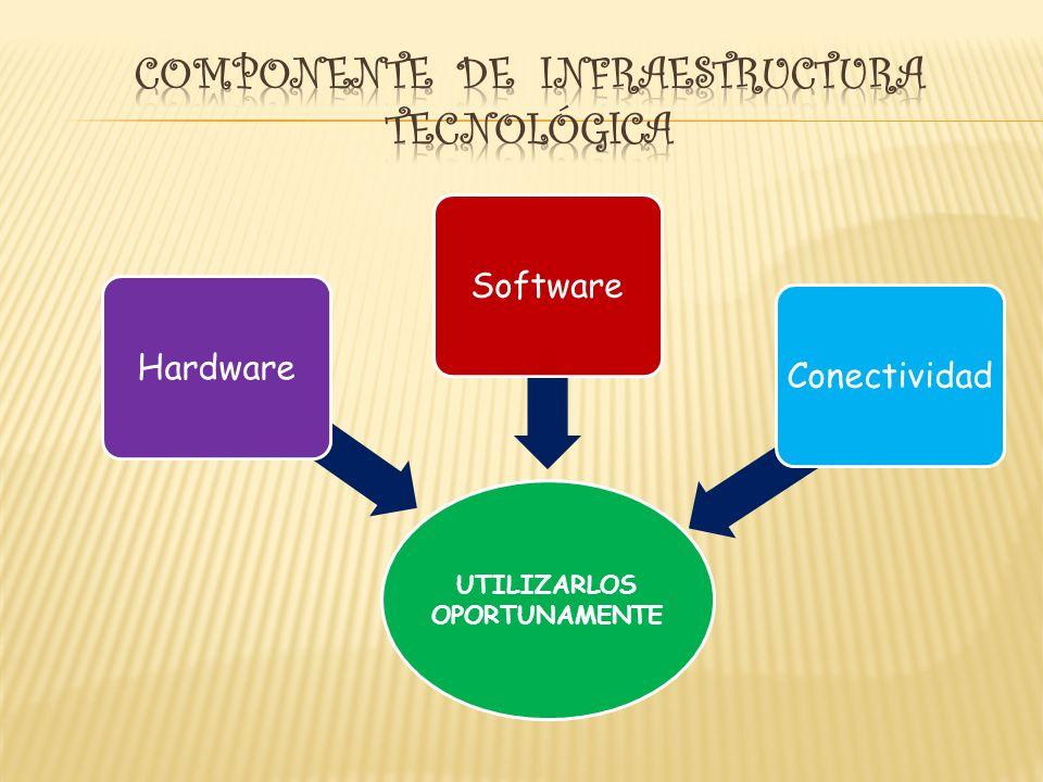 UTILIZARLOS OPORTUNAMENTE HardwareSoftwareConectividad