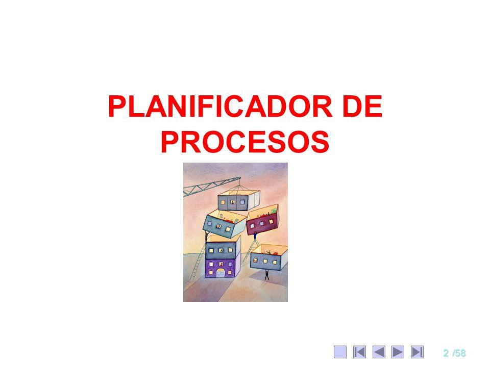 33/58 Ejercicios 2 Considere el siguiente conjunto de procesos: Simular cada una de las 6 políticas vistas, con q = 1.