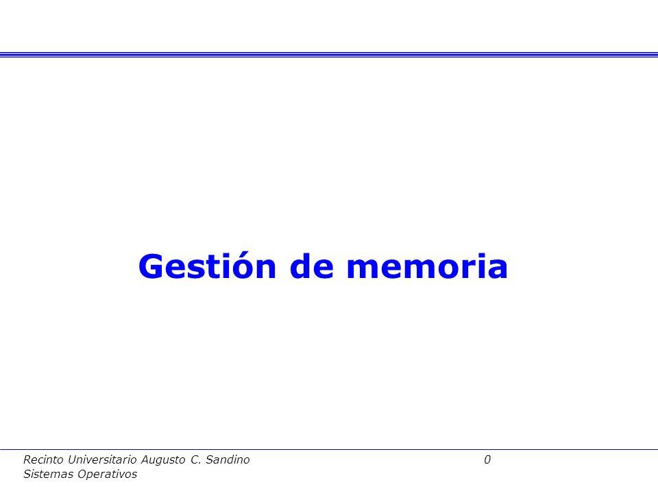 Recinto Universitario Augusto C.Sandino 40 Sistemas Operativos 3.4.