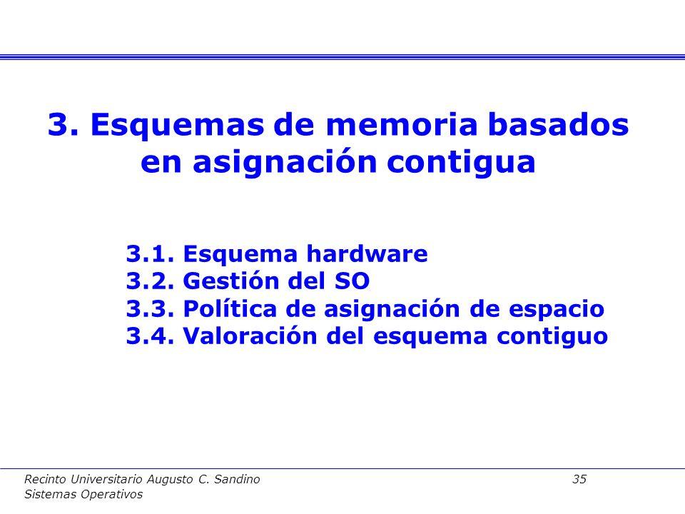 Recinto Universitario Augusto C. Sandino 34 Sistemas Operativos Para estudiar la evolución del mapa de memoria a lo largo de la ejecución de un proces