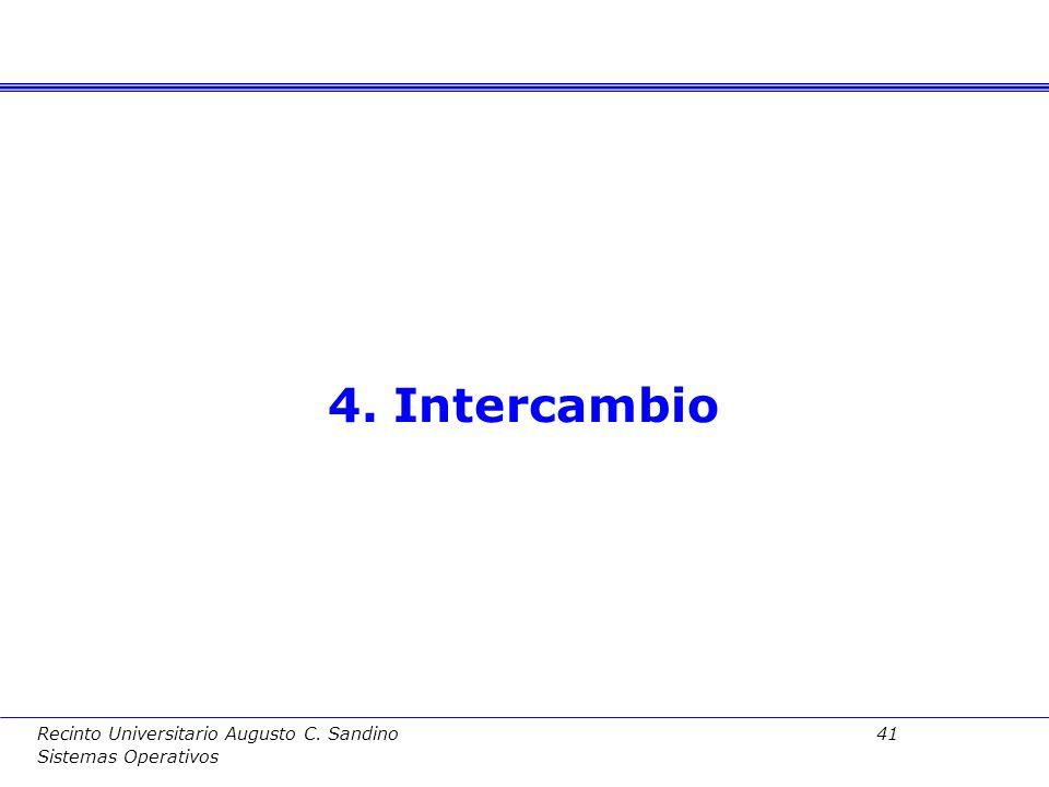 Recinto Universitario Augusto C. Sandino 40 Sistemas Operativos 3.4. Valoración del esquema contiguo Valoracion: –Espacios independientes para proceso