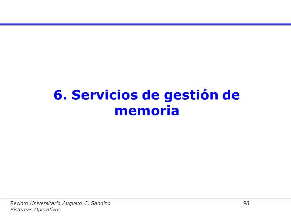 Recinto Universitario Augusto C. Sandino 97 Sistemas Operativos Ventajas: Se trata por tanto de una forma alternativa de acceso a archivos, frente a l