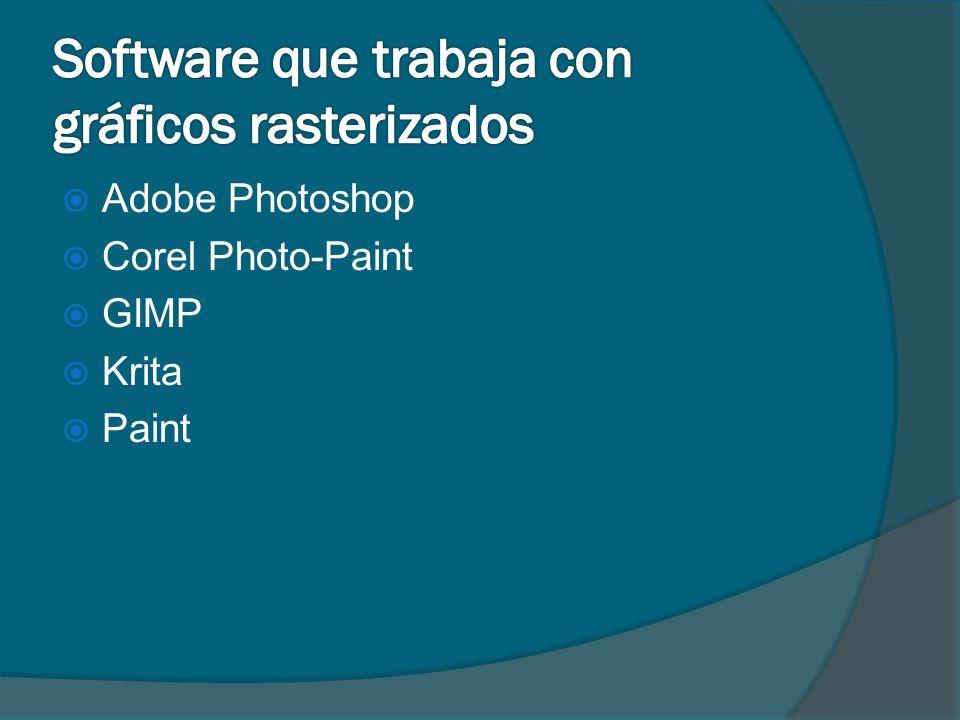 Adobe Photoshop Corel Photo-Paint GIMP Krita Paint