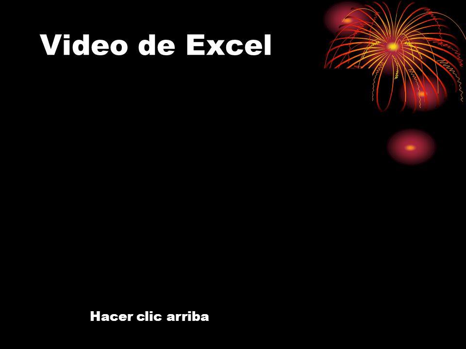 Video de Excel Hacer clic arriba