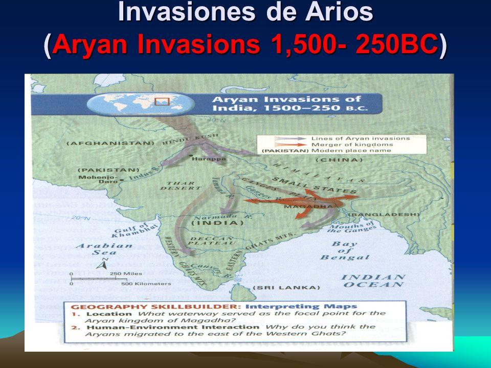 Invasiones de Arios (Aryan Invasions 1,500- 250BC)