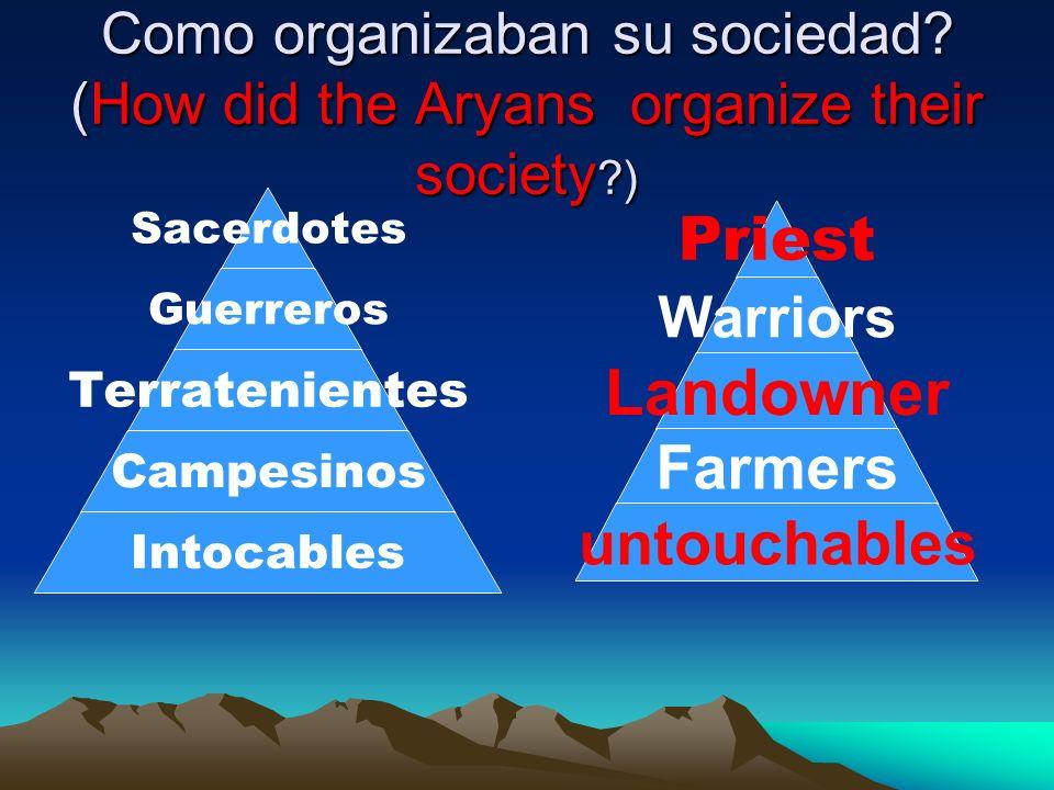 Como organizaban su sociedad.