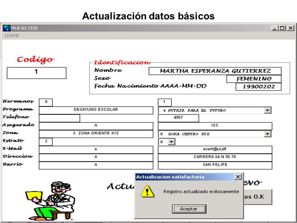 Actualización datos básicos