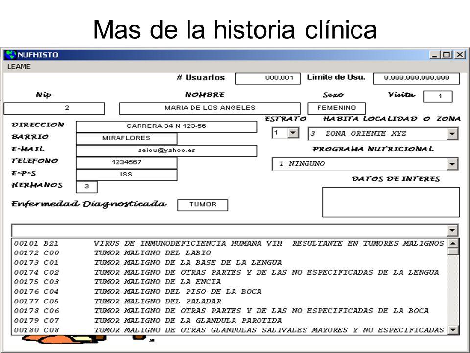 Mas de la historia clínica