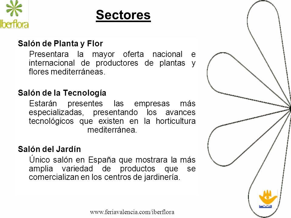 Sectores Salón de Planta y Flor Presentara la mayor oferta nacional e internacional de productores de plantas y flores mediterráneas. Salón de la Tecn