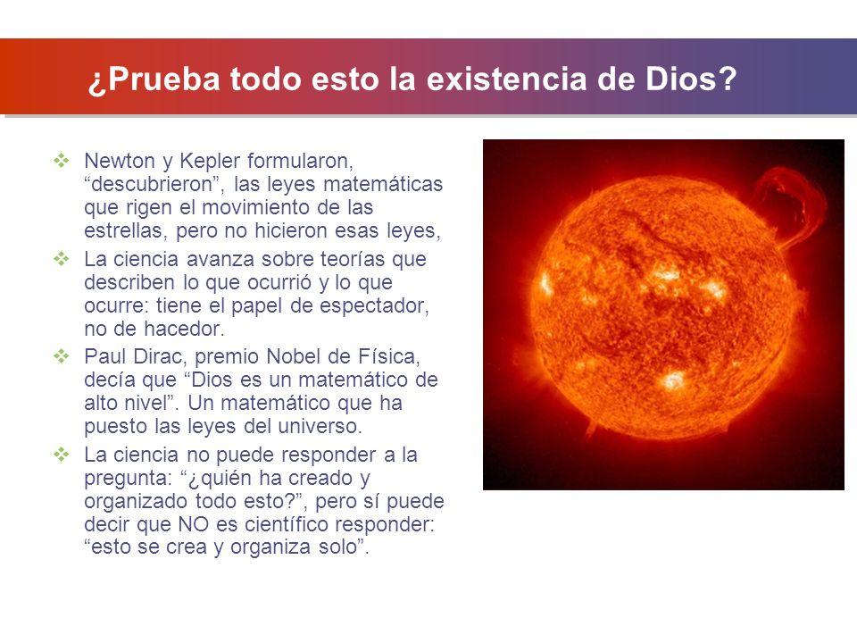 ¿Prueba todo esto la existencia de Dios.