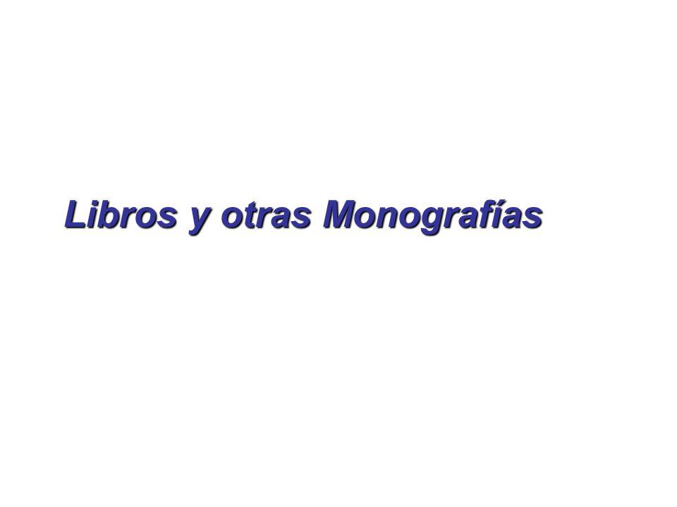 Libros y otras Monografías