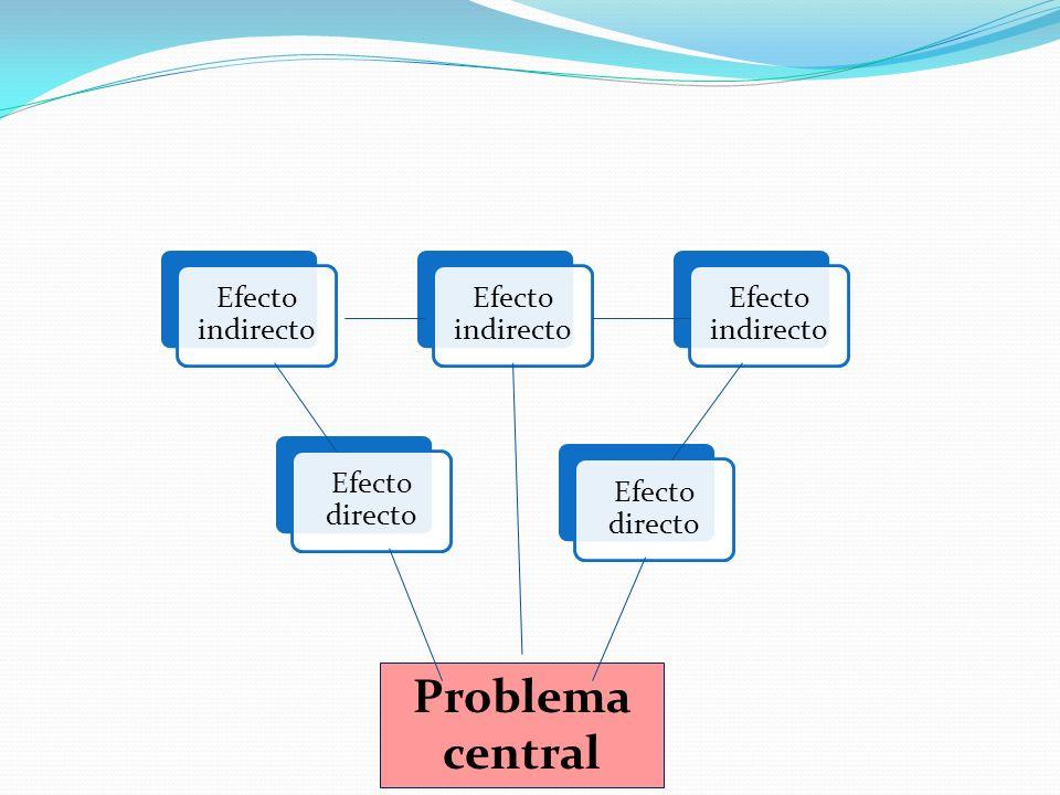 Efecto indirecto Efecto directo Problema central