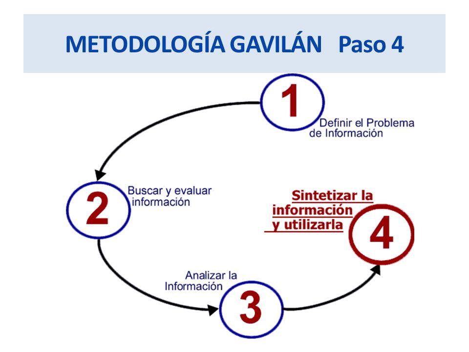 METODOLOGÍA GAVILÁN Paso 4