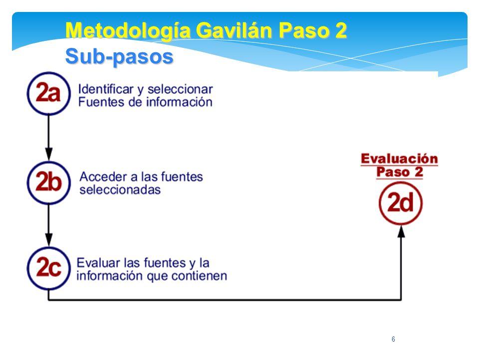 6 Metodología Gavilán Paso 2 Sub-pasos