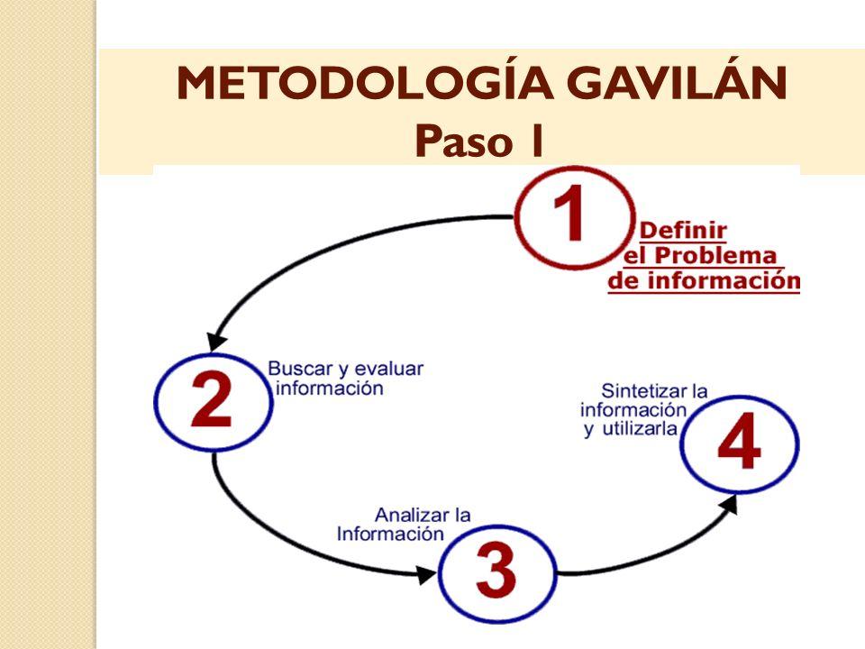METODOLOGÍA GAVILÁN Paso 1