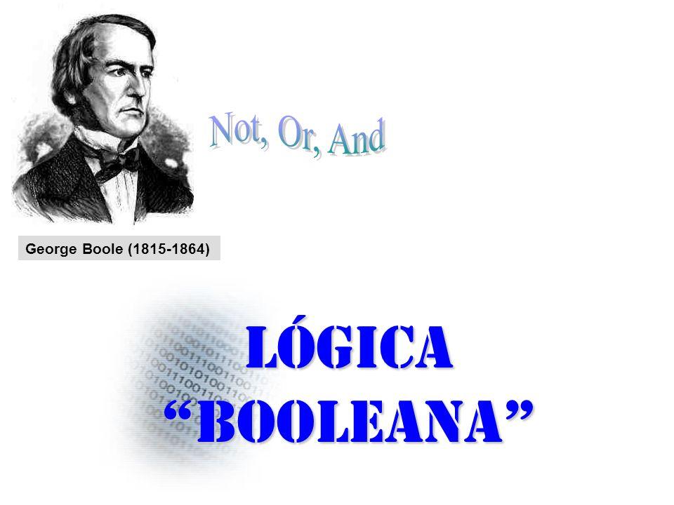 George Boole (1815-1864) Lógica booleana