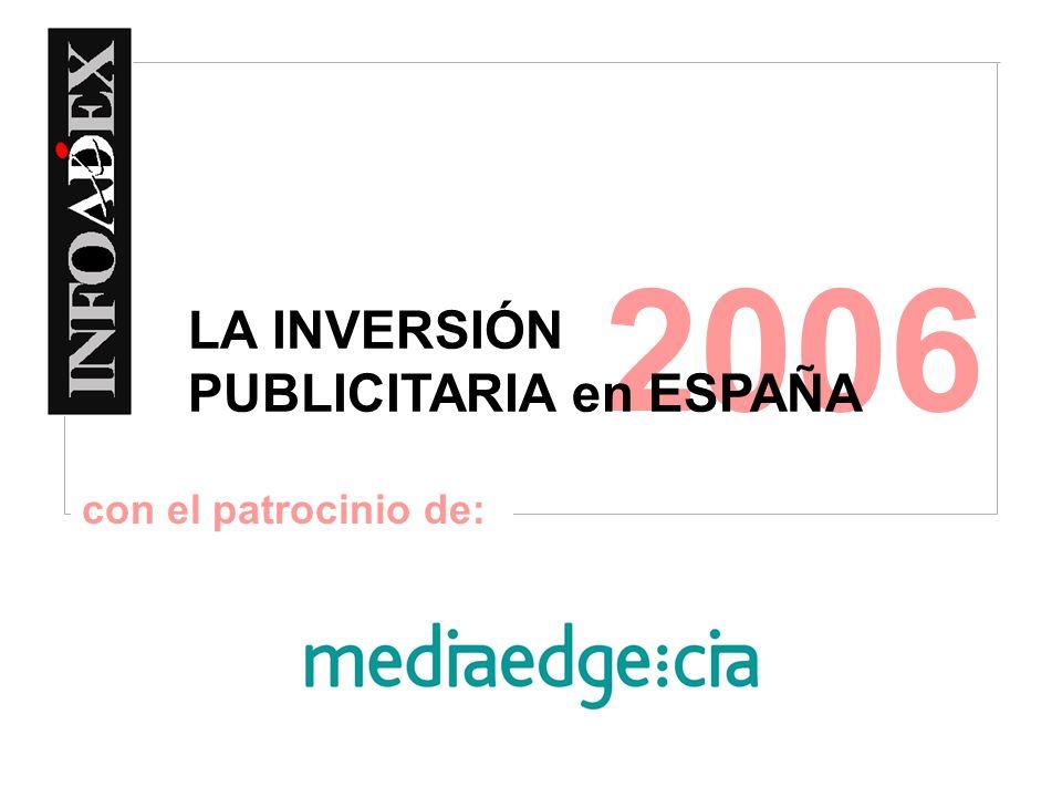 2006 LA INVERSIÓN PUBLICITARIA en ESPAÑA con el patrocinio de: