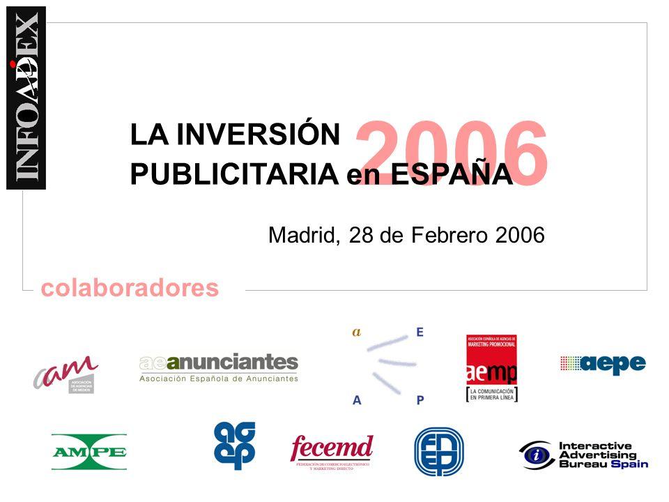 2006 Madrid, 28 de Febrero 2006 LA INVERSIÓN PUBLICITARIA en ESPAÑA colaboradores