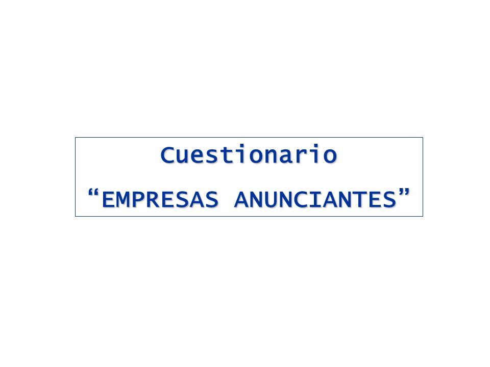 Cuestionario EMPRESAS ANUNCIANTES