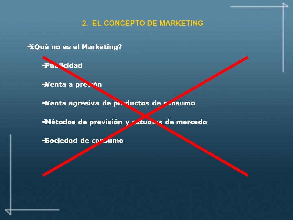 2.EL CONCEPTO DE MARKETING è¿Qué no es el Marketing.