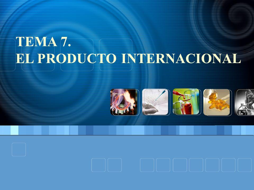 TEMA 7 EL PRODUCTO INTERNACIONAL 1.INTRODUCCIÓN: DIMENSIONES DEL PROGRAMA DE MARKETING 2.