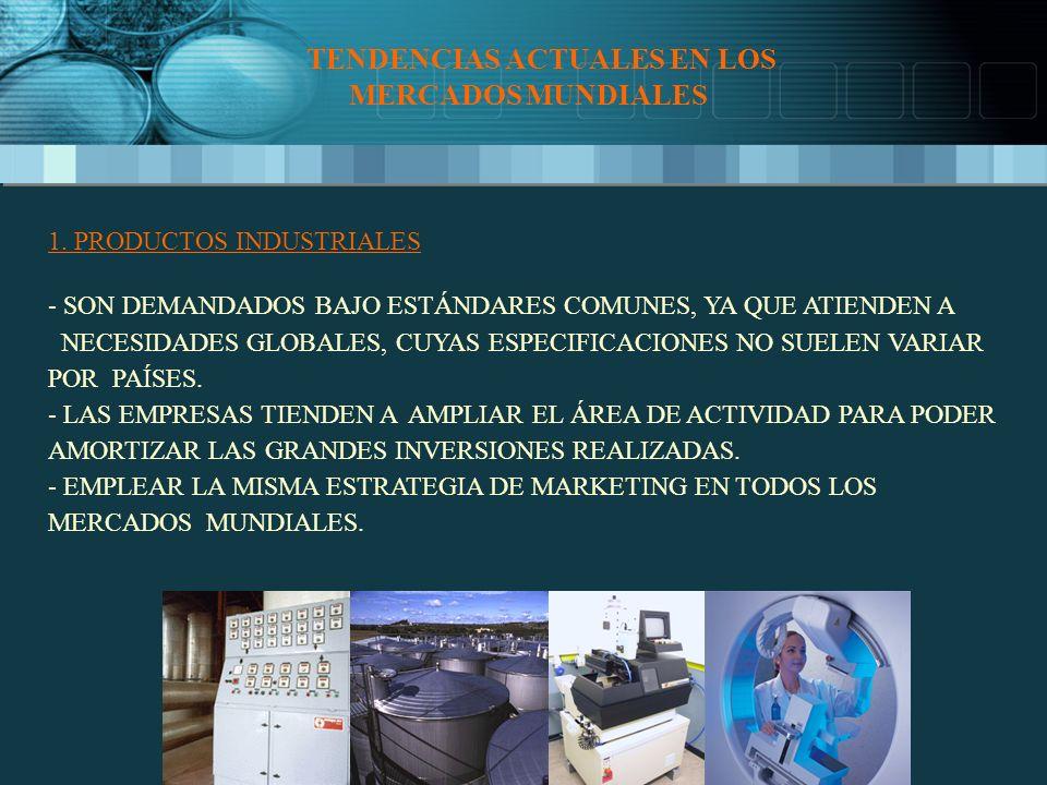 TENDENCIAS ACTUALES EN LOS MERCADOS MUNDIALES 1.