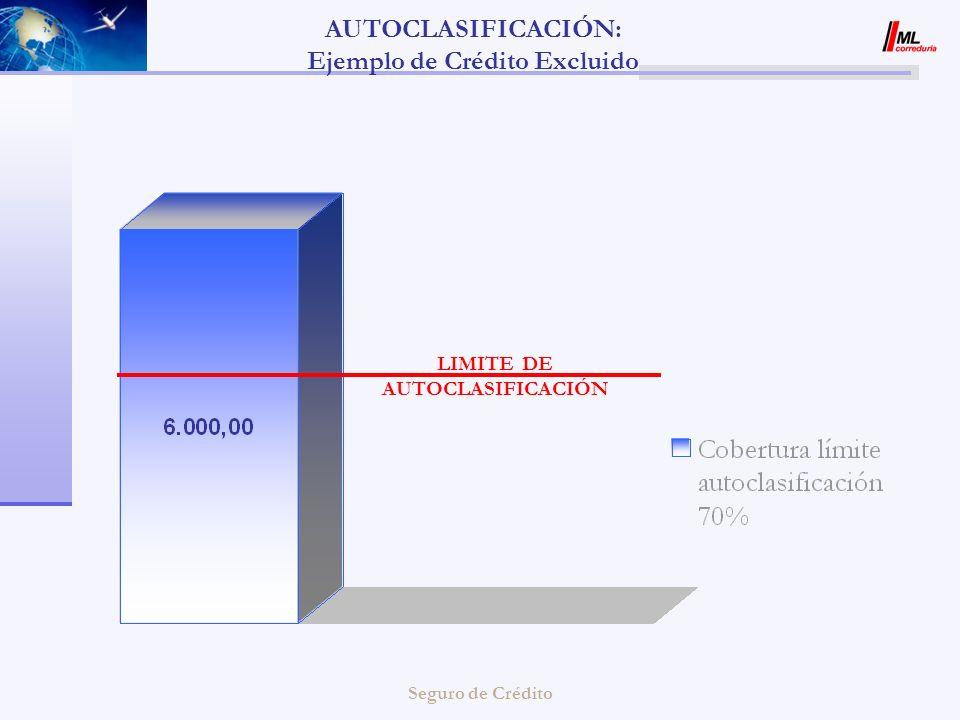 Seguro de Crédito AUTOCLASIFICACIÓN: Ejemplo de Crédito Excluido LIMITE DE AUTOCLASIFICACIÓN