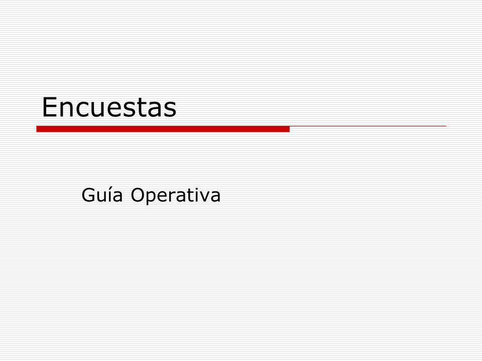 Encuestas Guía Operativa