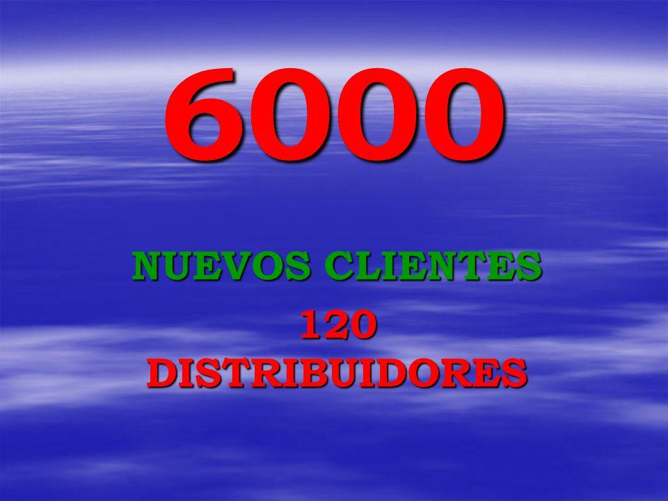 6000 NUEVOS CLIENTES 120 DISTRIBUIDORES