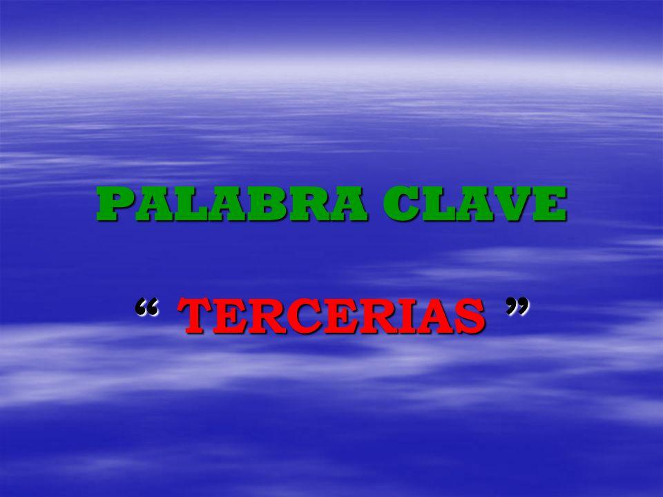 PALABRA CLAVE TERCERIAS
