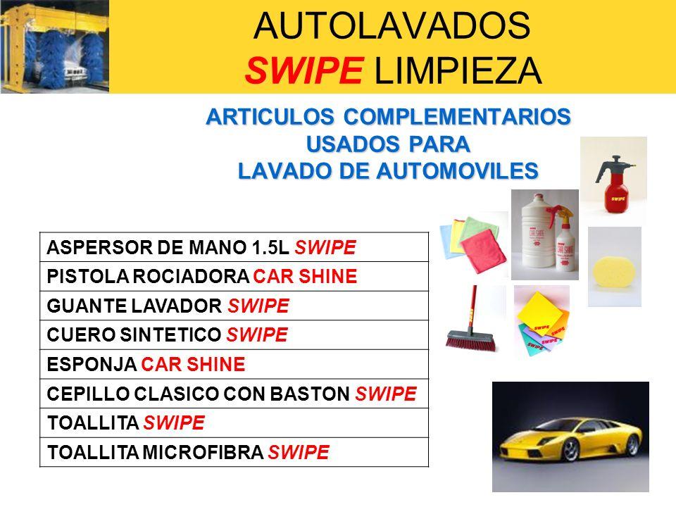 AUTOLAVADOS SWIPE LIMPIEZA EQUIPOS INDUSTRIALES USADOS PARA LAVADO DE AUTOMOVILES HIDROLAVADORA SUPER ó HIDROLAVADORA EXTRA DE SWIPE ASPIRADORA AWD-315 DE NILFISK-ADVACE