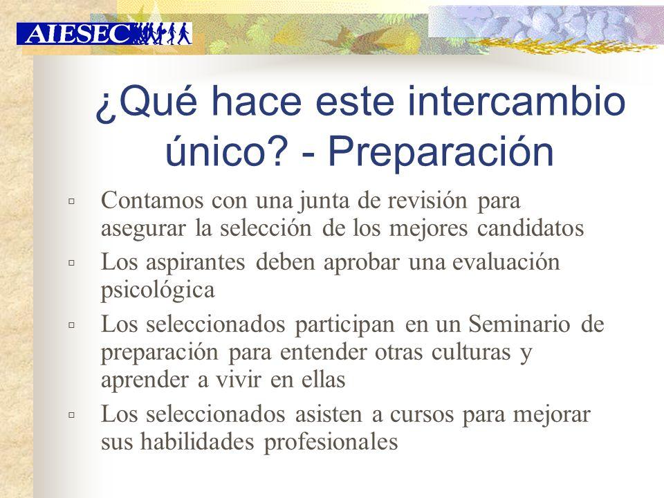 El Comité Local de AIESEC en México...- Recepción.