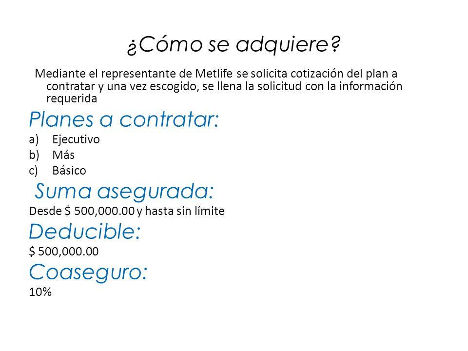APLICACIÓN DE DEDUCIBLE Y COASEGURO 1.Deducible La suma de gastos cubiertos por la póliza de Grupo ($500,000.00) se tomará como el deducible de Protección Garantizada.